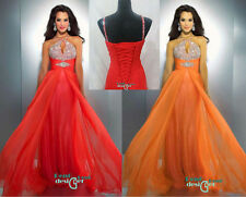 Sexy chiffon beaded Formal party prom Dress Evening Ball Gown Stock size 6-16