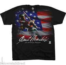 NEW JIMI HENDRIX AMERICAN MUSIC MENS BLACK T-SHIRT SIZE MEDIUM LARGE EXTRA LARGE