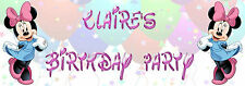 Personalised Minnie Mouse Party Banner for kids/childrens birthday Party
