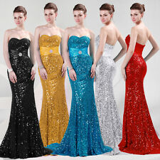 Stunning Beaded Slim Sexy Sequins Evening Cocktail Party Gown Ball Long Dresses