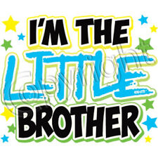 I'm the Little Brother Neon Blue Print T Shirt Kids Infant Tee