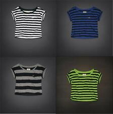 Hollister By Abercrombie & Fitch Cropped Easy Fit McGrath Beach T-Shirts Tee
