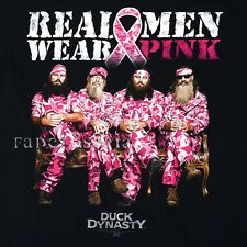 DUCK DYNASTY T-SHIRT COMMANDER PHIL SI ROBERTSON BREAST CANCER AWARENESS PINK