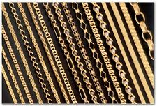 Various 14k Hamilton gold plated sterling silver 925 Italian chain necklaces
