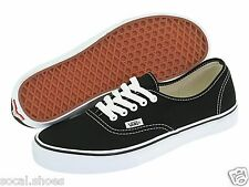 VANS CLASSIC AUTHENTIC BLACK WHITE MEN'S ATHLETIC SHOES NEW WITHOUT BOX