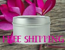 All Natural Soy Candle Tins 4oz with Essential & Natural Oils - Choose Scent