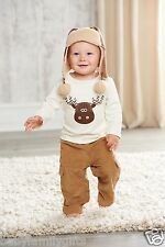 Mud Pie Christmas Forest Friends Baby Boy Moose Pant Set 101A018