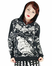 Too Fast Skelly Hoodie Pinup Tattoo Punk Rockabilly Flash Tattooed Gypsy Gothic