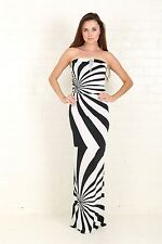 Magic Black and white printed maxi dress convertible Dress for Women party dress