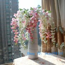 1 PCS Bouquet Artificial Wisteria Silk Flower Home Decoration NO VASE F107