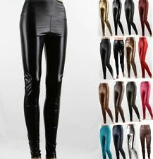 HOT Women's Sexy PU/Faux Leather High Waist Stretch Winter Leggings Long Pants
