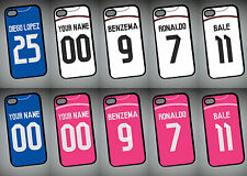 REAL MADRID 14/15 KIT iPhone 4 5 ipod Galaxy S4 S5 PHONE COVER CASE Personalised