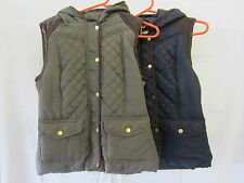 Ladies Brave Soul Zip Up Quilted Bodywarmer / Gilet with Hood LJK-ZUTTON