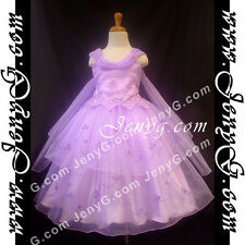 #PB11 Flower Girl/Wedding/Party/Formal/Communions Gowns Dress Purple 3-14 Years