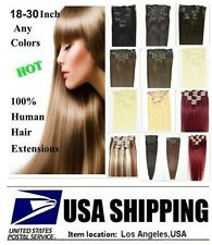 "Faster Ship Remy A 16""7pcs Straight Clip In Hair 100% Real Human Hair Extensions"