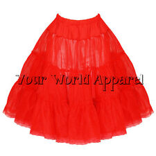 """H and R London Vintage Style Red Organza Petticoat Crinoline Tulle Skirt 25"""""""