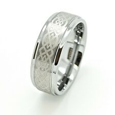 5,6,8,9mm Tungsten Carbide with  Celtic Love Knot Design Unisex Wedding Band