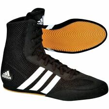 New Adidas Box Hog Boxing Boots shoes trainers black adult mens boys womens