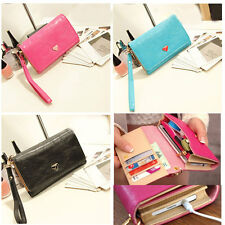 Women Envelope Card Wallet Case Purse Samsung Galaxy S2 S3 Iphone 4 4S Phone Bag