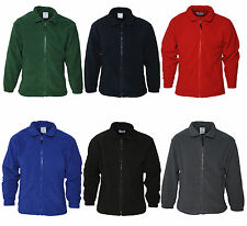 New Adult Herritage Full Zip Fleece Jacket Red Black Navy Grey Green Blue Warm