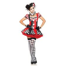Sexy Le Belle Harlequin Circus Clown Mardi Gras Women's Adult Halloween Costume