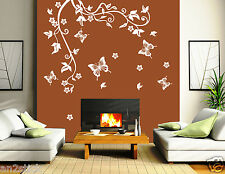 Butterflys With Florals Graphics Home Decor,Wall Art Stickers,Wall Decals w86