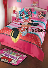 Twin and Full size Girls Disney Minnie Mouse Hearts Comforter Set