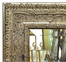 Parisienne Oranate Framed Wall Mirror Vanity Bathroom Mirror Antique Silver
