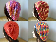 BLUE Lilac PINK Coral YELLOW Brown HANDMADE Crochet SLOUCHY Beret Tam HAT Knit