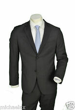 Men's Suit By Super 100 Virgin Wool Anthracite, Aldo Colitti