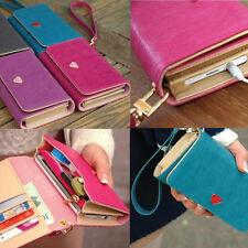 Envelope Wallet Leather Purse Case Cover For iPhone 4S 5 5S 5C Samsung S2 S3 S4