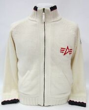 Alpha Industries Knit Jacket Creme Weiß #5040