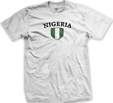 Nigeria Nigerian Flag Country Colors Crest Nationality Ethnic Pride Mens T-shirt