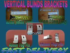 VERTICAL BLIND BRACKETS 89mm & 127mm FOR 30mm & 40mm TRACK/SPARES/REPAIRS-2 PACK