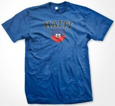 Haiti Haitian Country Crest Flag Colors Nationality Ethnic Pride -Mens T-shirt