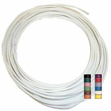 WHITE (+ 11 TRACERS) - THINWALL 1mm2 Automotive Cable /Wire 16.5A – per 5 metres