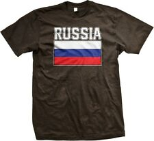 Russia Flag- Russian Country Colors Nationality Ethnic Pride -Mens T-shirt