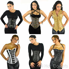 Genuine, Real Leather Corset, Full Steel Boned, Waist Training, Steampunk