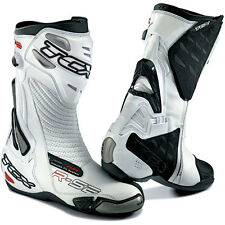 TCX Boots R-S2 Air Pump Racing Motorcycle Riding Boot White