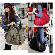 Women Girls Canvas Shoulder Messenger Bag Purse Hobo Satchel Tote Handbag Casual