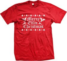 Merry Elfin Christmas - XMAS Funny Slogans Sayings Statements - Men's T-shirt