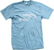Nice Naughty - Christmas Funny Slogans Sayings Statements Humor  - Men's T-shirt