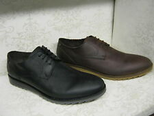 Mens Base London Hendrix Brown Or Black Waxy Leather Casual Lace Up Shoes