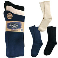 Maggie's Organic Socks Cotton Crew Tri-Pack Made in USA Choice of Colors & Sizes