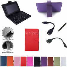 "Colorful Keyboard PU Case Cover+Stylus For 7"" Hannspree HANNSpad SN70T3 Tablet"