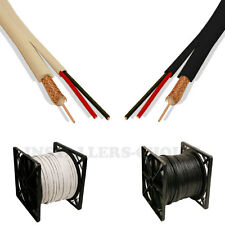 RG59 Siamese Cable 500ft 1000ft 20AWG+18/2 Cctv Security Camera Wire Black White