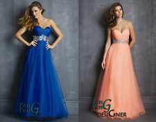 charmingEvening Formal Party Ball Gown Prom Bridesmaid Dress 6 8 10 12 14 16