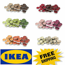 36 IKEA tealight scented candles- 3.5 hr.- choose from 6 different scent - NIP