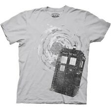 NEW Gray Doctor Who T-Shirt ALL SIZES Tardis Phone Police Box Men Dr TV Show Tee