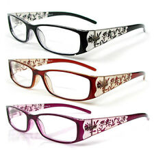 Reading Glasses Bifocal Floral Pattern Crystal Readers 100-400